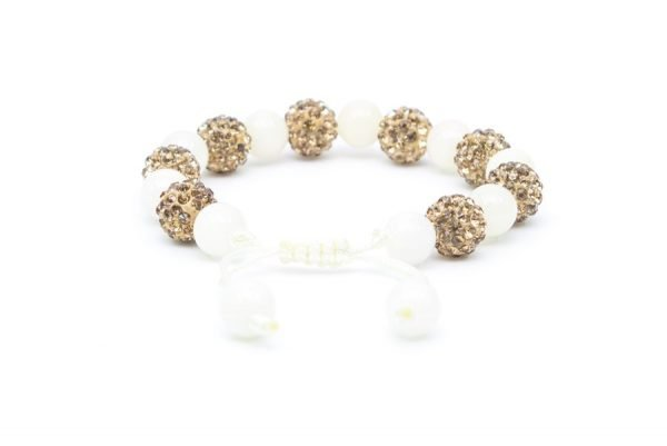 Gold and Pearl Bead Bracelet