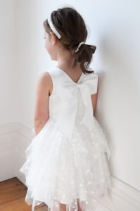 White Tulle Formal Girls Dress