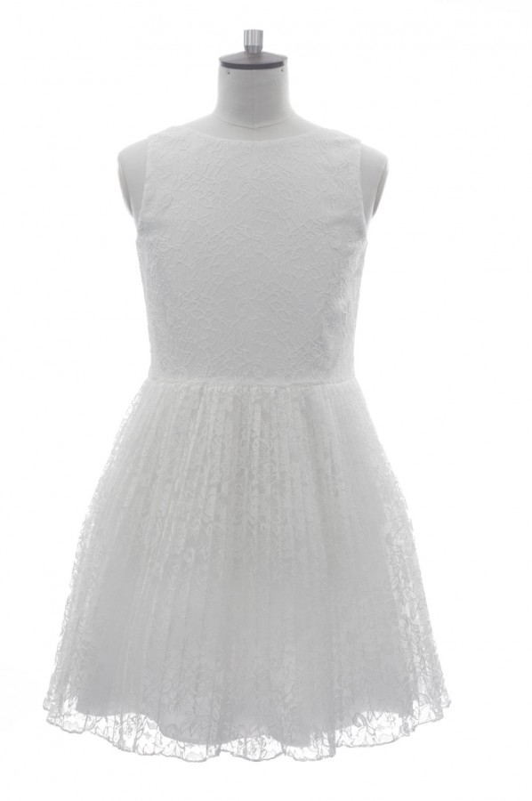 Ivory Bow Back Diamante Dress