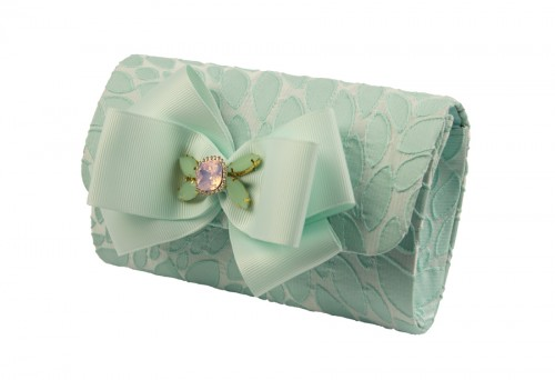 Turquoise and Jewelled Bow Bag