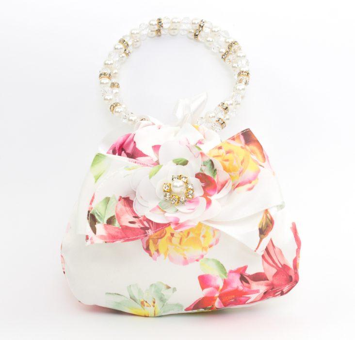 Girls Summer Flower Hand Bag