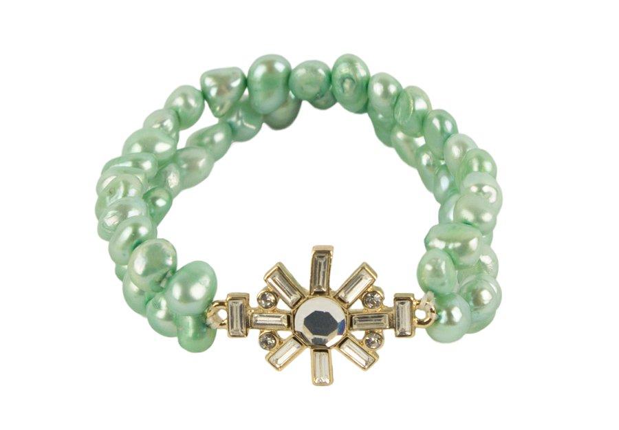 Turquoise Pearl Embellished Bracelet
