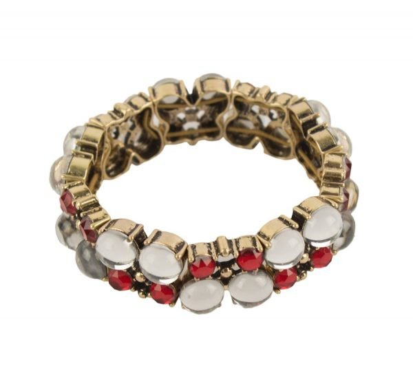 Red Crystal Beaded Bracelet