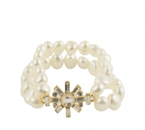 Ivory Real Pearl Sunshine Bracelet