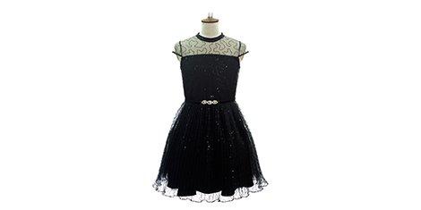 Little Black Sequin Dress - David Charles Childrens Wear