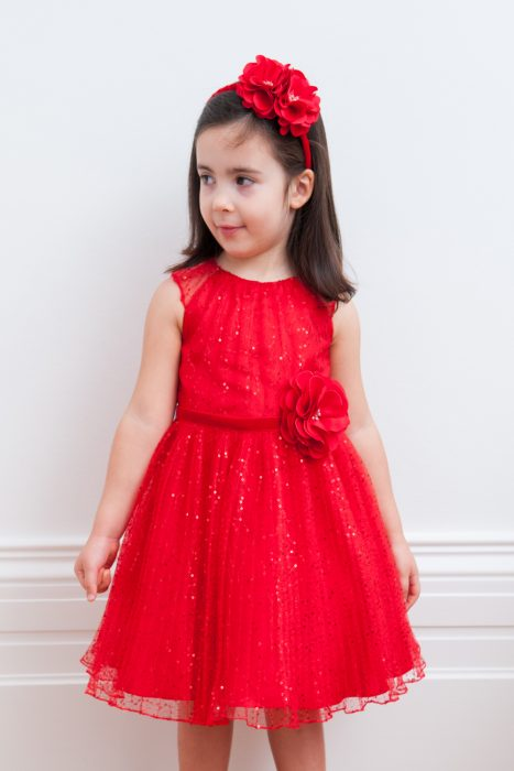 Poppy Red Sequin Party Gown