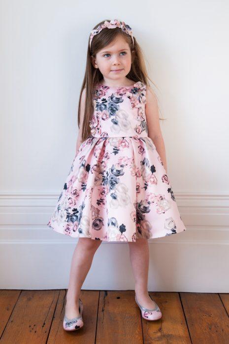 Palest Pink Bouquet Dress