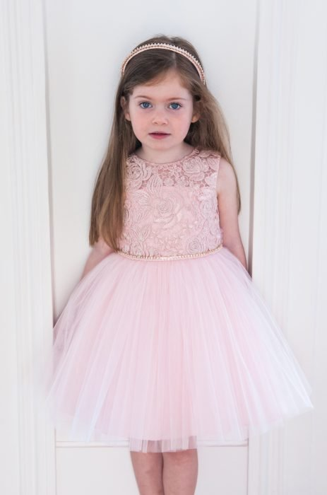 Pink Textured Bridesmaid Dress