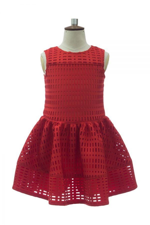 Statement Red Design Party Dress