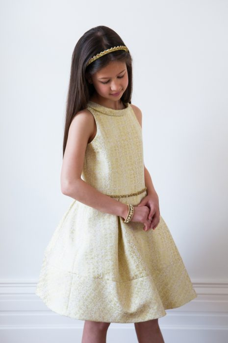 Luxurious Yellow Party Dress