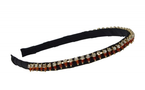 Black and Red Precious Hair Band