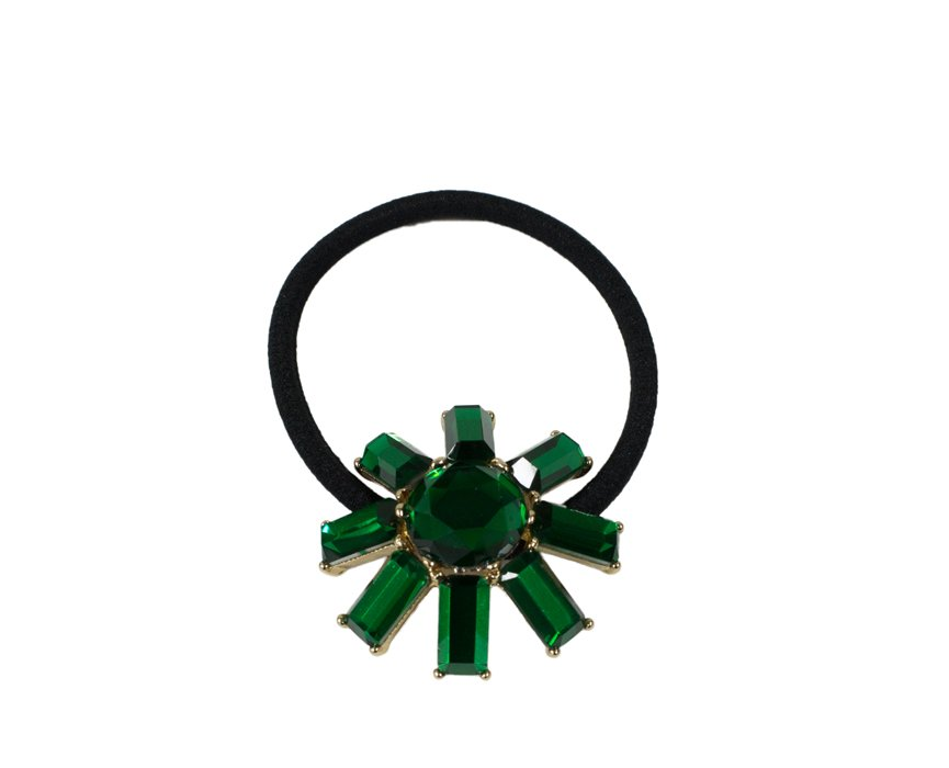 Jewel Green Sunshine Scrunchie
