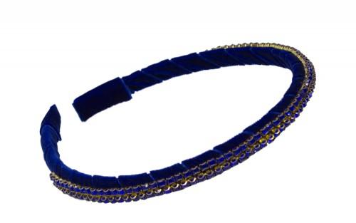Cobalt Blue Embellished Hair Band