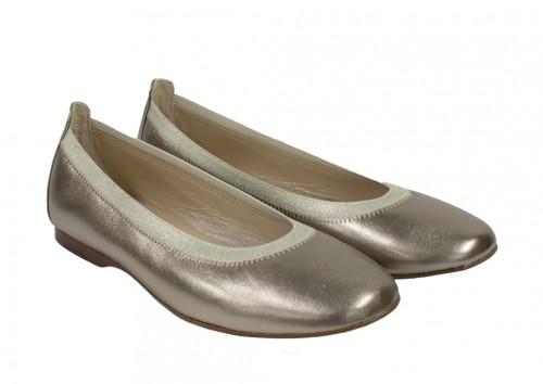 Metallic Bronze Leather Bridesmaid Flats