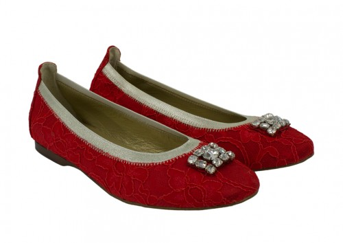 Bejewelled Red Occasion Pumps