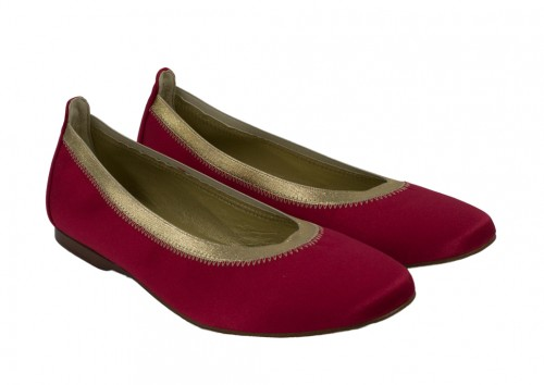 Red and Gold Festive Flats