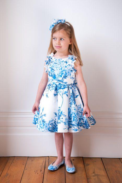 Blue and Ivory Fashion Dress