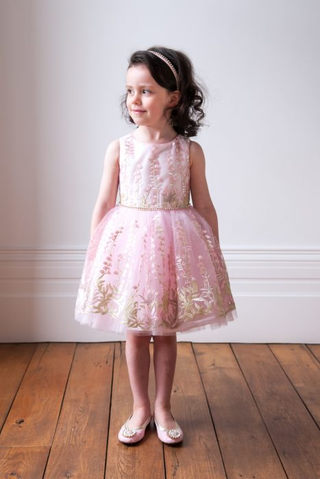 Pearl Pink Floral Fashion Dress