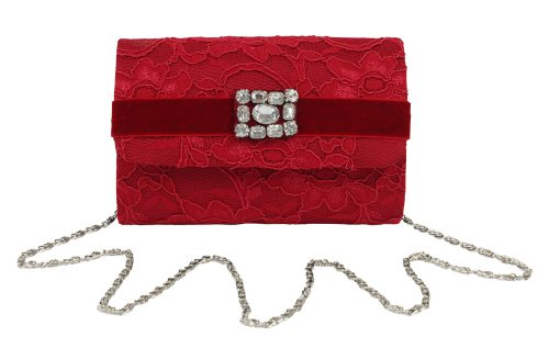 Rosy Red Lace Party Clutch
