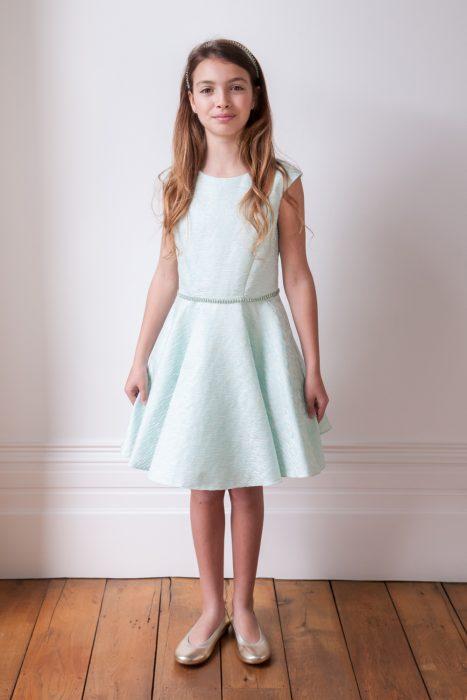 Embellished Turquoise Birthday Dress