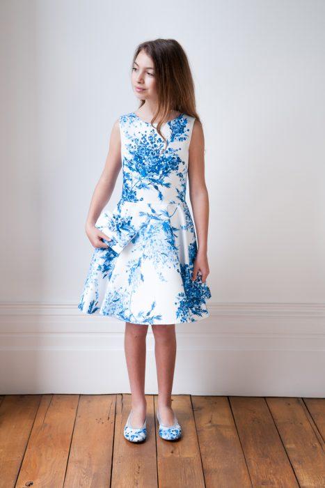 China Blue Summer Holiday Dress