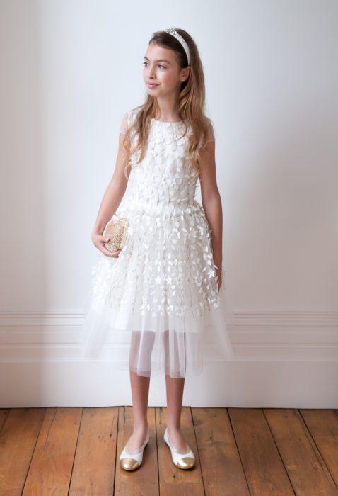 Ivory Spring Floral Princess Dress