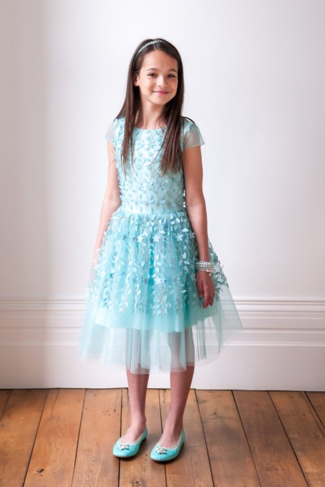 Turquoise Summer Princess Dress