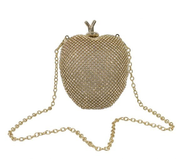 Gold Apple Clutch Bag
