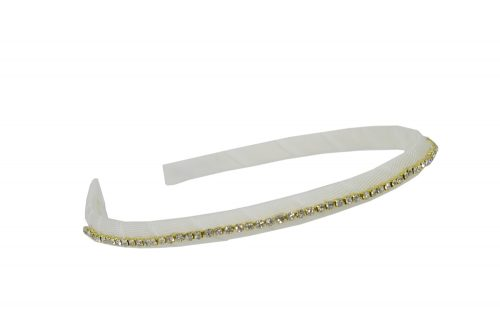Ivory and Gold Diamante Hair Band