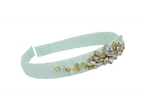 bejewelled turquoise hair band