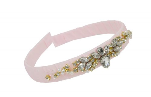 Petal Pink Jewelled Hair Band