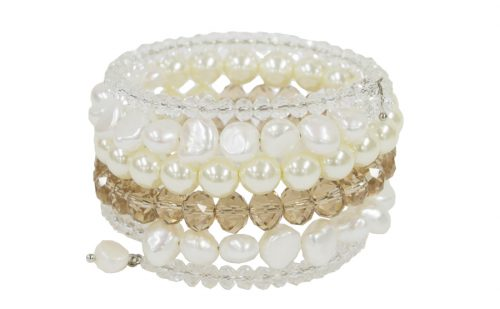 ivory and gold twisted bracelet