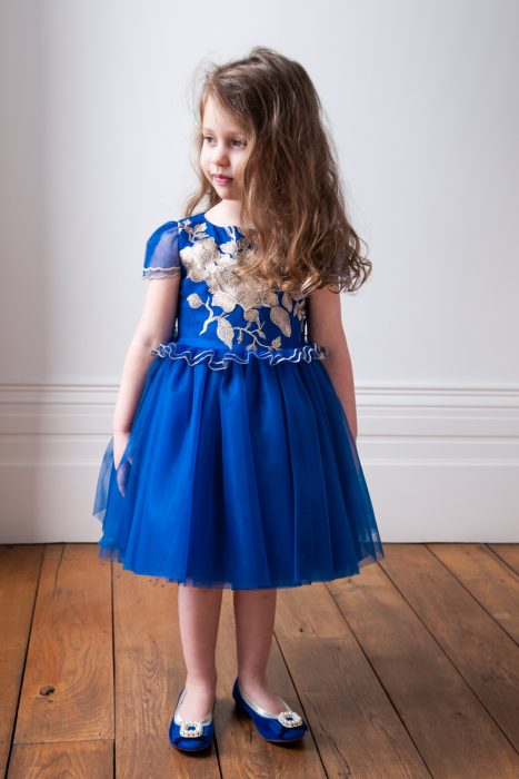 Royal Blue Peplum Occasion Dress