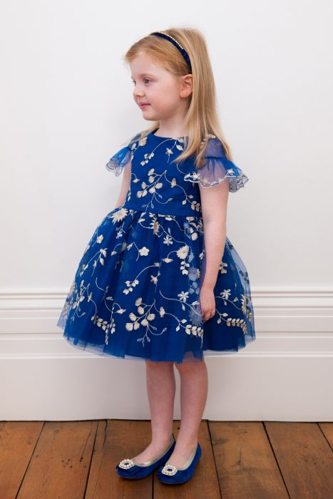 Navy Blue Petal Birthday Dress
