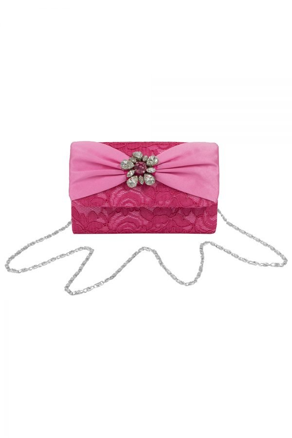 Fuchsia Jewel Clustered Clutch