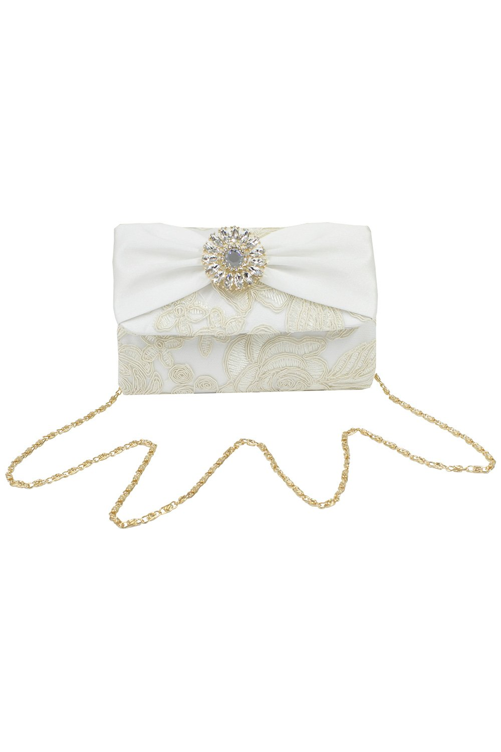 Bejeweled Ivory Clustered Clutch