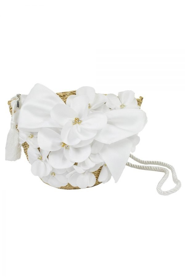 Ivory Bouquet Basket Bag