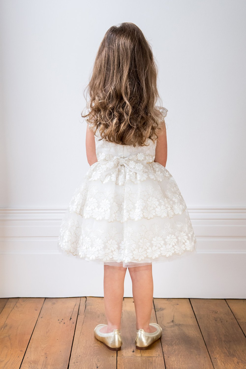 Ivory embroidered bridesmaid dress david charles childrens wear ivory embroidered bridesmaid dress ombrellifo Images