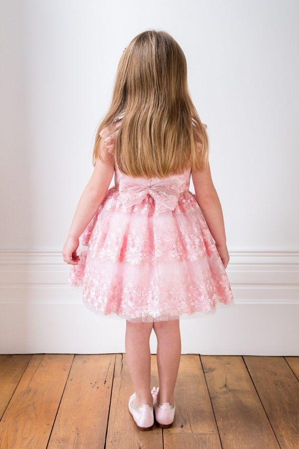 Blush Pink Flower Girl Dress