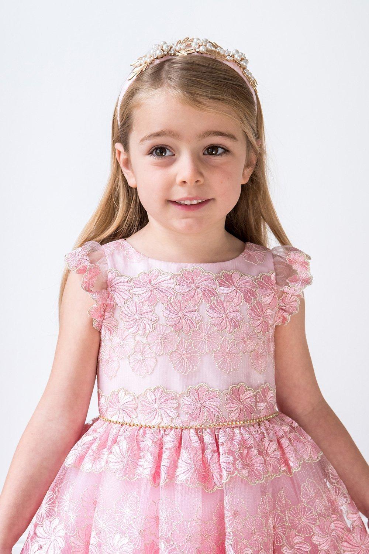 6843300712c88 Blush Pink Toddler Flower Girl Dress