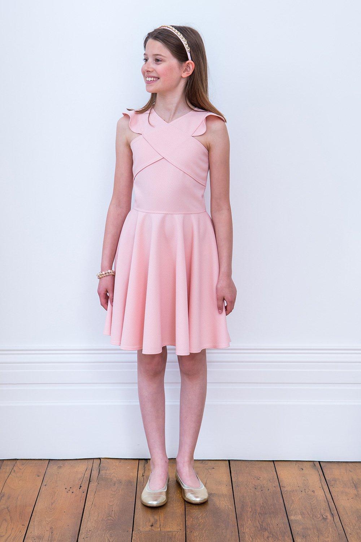 Vestido de cumpleaños rosa pálido - David Charles Childrens Wear