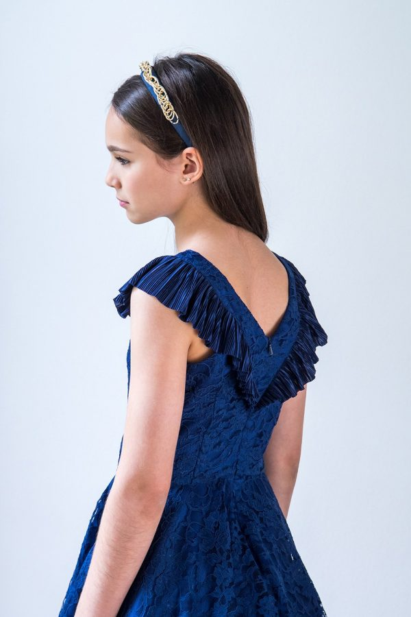Royal Blue Lace Ballerina Gown