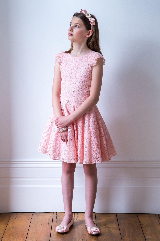Bailarina de encaje en rosa - David Charles Childrens Wear