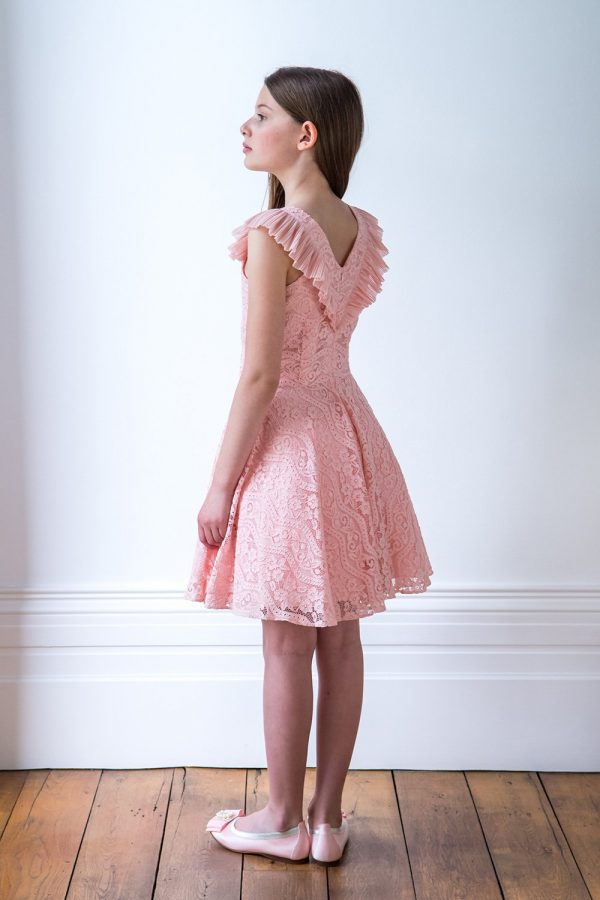 Powder Pink Lace Ballerina Gown