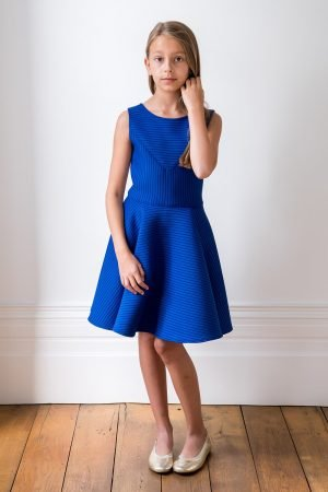 Royal Blue Asymmetric Dress