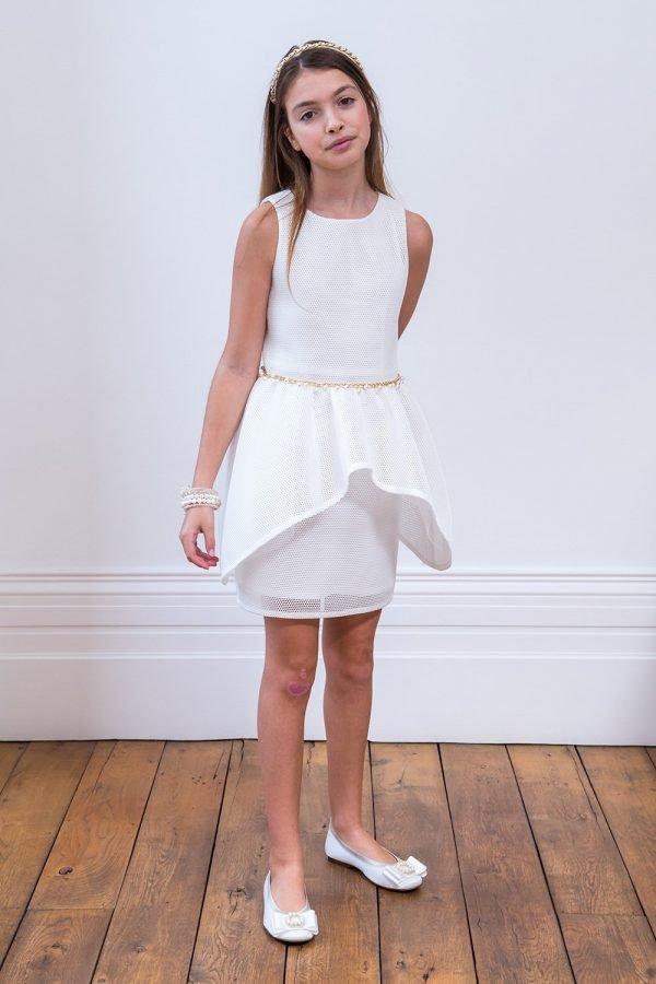 Ivory Embellished Prom Dress
