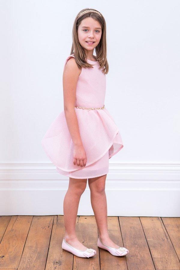 Candy Pink Embellished Prom Dress