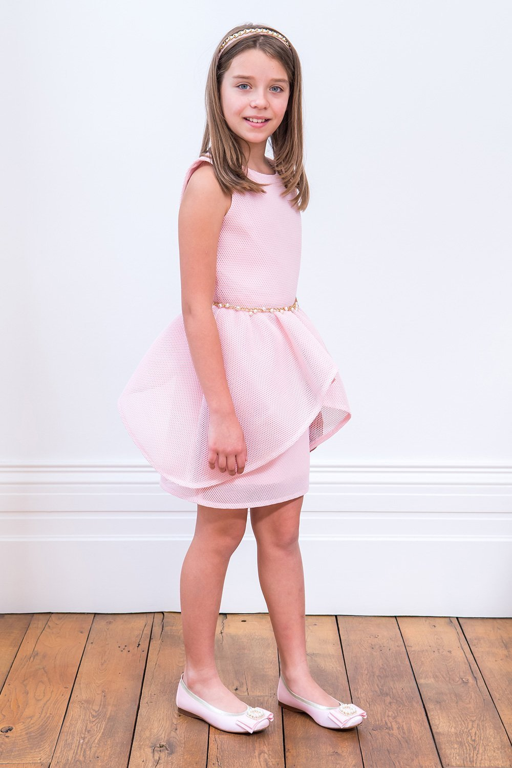 Vestido de fiesta con adornos de Candy Pink - David Child Childrens Wear