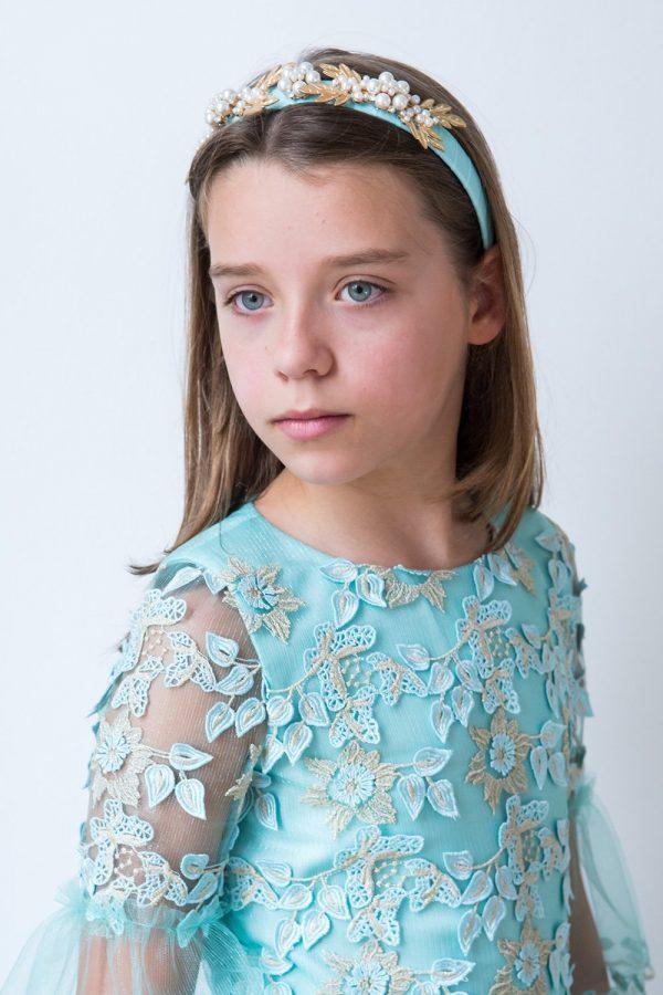 Turquoise Floral Fashion Dress