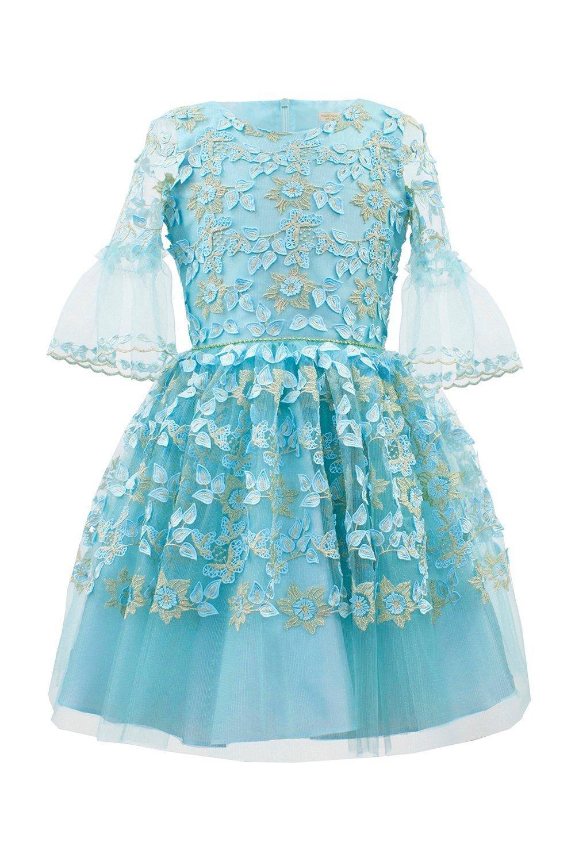 a1ccc7fd2a7e Turkis Floral Fashion Dress - David Charles Childrens Wear